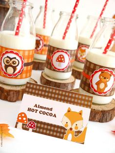 Woodland Owl and animals birthday party with printable and so many cute DIY decorations and ideas! | BirdsParty.com @birdsparty
