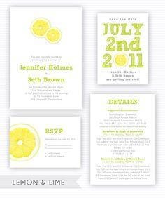Lemon Lime Wedding Invitation