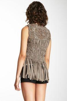Wild Salt Spirit: Subtle Luxury Macrame Vest Back Macrame Dress, Macrame Curtain, Macrame Bag, Macrame Knots, Macrame Jewelry, Knitwear Fashion, Knit Fashion, Boho Fashion, Diy Clothes