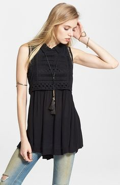 Free+People+'Twice+as+Nice+Twofer'+Gauzy+Tunic+available+at+#Nordstrom