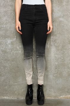 Cheap Monday Faded Black Second Skin Jeans