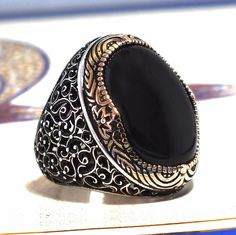 Mens Ring 925 Sterling Silver Black Onyx Unique Elegant artisan jewelry | Jewelry & Watches, Men's Jewelry, Rings | eBay!