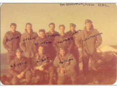 Comandos de la 601 --- Brizuela, Duarte, Quintana, Negreto, Fernández, Llanos, Castagneto. Abajo: Pinasco, Anadón y Figueroa.
