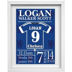 Chelsea Personalised Childrens Nursery Picture