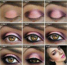 cute pink dark eye