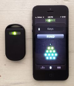 Looking for your keys? Hone has an app that will make your tracker flash and beep from up to 100 feet away.