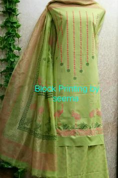 Block Painting, Fabric Painting, Block Design, Punjabi Suits, Printing, Birds, Boutique, Clothes For Women, Clothing