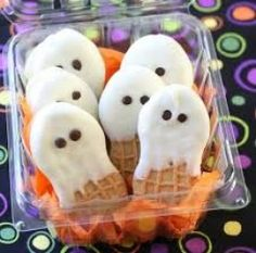 These are 4 of the easiest Halloween themed snacks you will ever make! Kids can help with all of these. They are super yummy too!