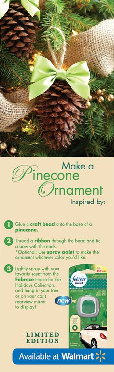 This cute #DIY ornament idea is perfect for those that love the outdoors. #FebrezeHoliday