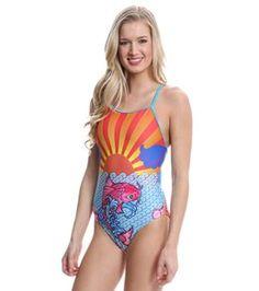 495b8d28f4 Splish Koi Sunset Thin Strap One Piece Swimsuit at SwimOutlet.com - Free  Shipping