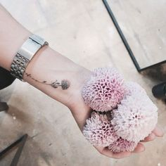 Floral wrist tat by Doy