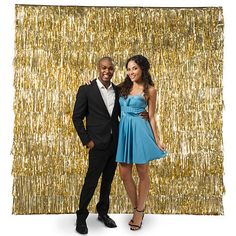 DIY Fringe Photo Booth Backdrop - New Year's Eve Party Ideas