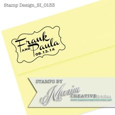 Personalized Self Inking Retro Rubber Stamp by OhHappyDayStamps, $27.95