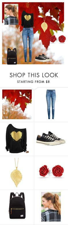 """Autumn"" by queen-of-asgard-160 ❤ liked on Polyvore featuring H&M, Converse, Chupi, Bling Jewelry, Herschel Supply Co. and Francesca's"