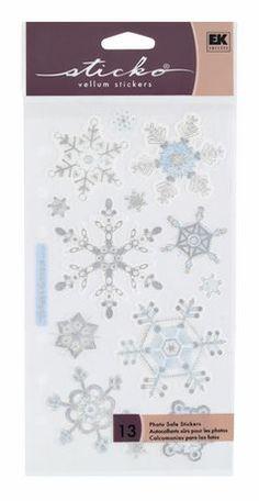 Sticko Stickers Snowflakes | Walmart.ca $1