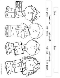 this freebie includes 4 different coloring pages with sight word keys similar to a color by number this are perfect for any primary classroom either in a
