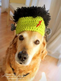 Frankentstein Hat for Dogs Halloween Costume for by AegeanDrawn