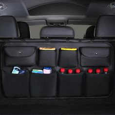 High Quality leather Car Rear Seat Back Storage Bag Multi Pocket Car Trunk Organizer Auto Stowing Tidying Interior Accessories. Made of High quality leather, durable and easy to clean. Car Seat Organizer, Car Organizers, Online Organizer, Organiser, New Car Accessories, Leather Car Seats, Trunk Organization, Car Essentials, Car Trunk
