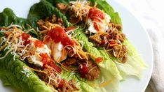Bariatric style Romaine Lettuce tacos are very cool and super tasty. Miss Taco Shells? Try these... they are excellent.