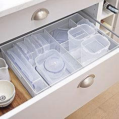 Steel Mesh Kitchen Drawer Organiser 5 Hole Tray - Large White - from Lakeland