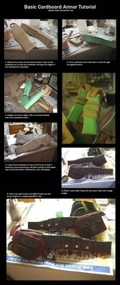 Basic Cardboard Armor Tutorial by thegadgetfish.deviantart.com on @deviantART