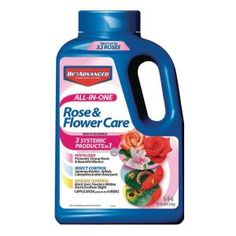 BAYER ADVANCED Flower Food at Lowe's. All-In-one Rose and flower care 4 lb granules fertilizer, fungicide, insecticide, 6 week systemic protection, 3 products in insect control: Bayer Advanced, Leaf Beetle, Juniper Bonsai, Japanese Beetles, Rose Care, Powdery Mildew, One Rose, Landscape Edging, Flower Food