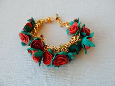 rose bracelet by WorldTS on Etsy