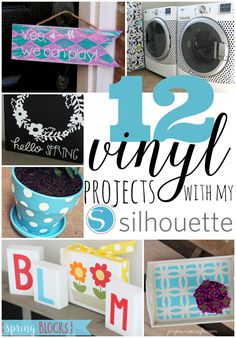 12 Vinyl Projects with my Silhouette