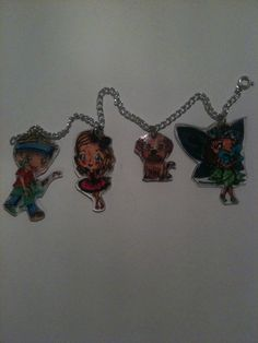 Charms I made by colouring digi stamps from kith and kin stamp company using Copic markers
