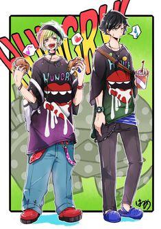 Cool Anime Guys, Cute Anime Boy, Kawaii Chan, Kawaii Anime, Danganronpa Characters, Anime Characters, The Wolf Game, Neko, Rainbow Boys