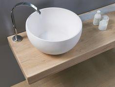 Rundes Aufsatzwaschbecken Kollektion Wood-e by Regia | Design Bruna Rapisarda