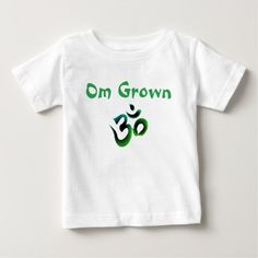 Om Grown Green Baby Tee There's a whole new crop of kids growing up on meditation and peace. They are Om Grown! https://www.zazzle.com/om_grown_green_baby_tee-235364876595294398?rf=238937033046134636 #om #aum #namaste #mantra #sanskrit #giftsforkids #giftsforbaby #inspiration #motivation #meditation #yoga #baby