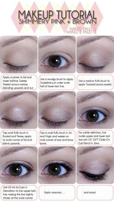 simple eye tutorial using Urban Decay's Naked and Naked 2 palette!