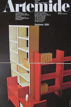 Dodona bookcase system for Artemide by Ernesto Gismondi
