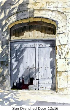 Sun Drenched Door 12x16 Marie Gabrielle