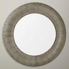 Buy Libra Filigree Round Wall Mirror, 70 x 70cm, Dark Grey Online at johnlewis.com