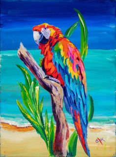 Oct 17 2019 Polly Pirate Parrot from the Caribbean Polly Pirate Parrot from the Caribbean 2 cookie intermediate Academy acrylic painting lesson by Ginger Cook Bird Painting Acrylic, Parrot Painting, Peacock Painting, Acrylic Painting Lessons, Acrylic Painting Tutorials, Parrot Cartoon, Parrot Logo, Parrot Fish, Parrot Tulips