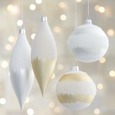 Winter White Let It Snow Ornaments  | Crate and Barrel