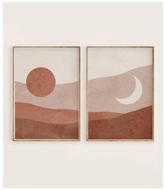 Diy Canvas Art, Diy Wall Art, Diy Art, Wall Art Sets, Wall Art Decor, Abstract Wall Art, Abstract Landscape, Landscape Prints, Painting Abstract