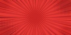 Fondo rojo retro estilo vintage con rayo...   Premium Vector #Freepik #vector #fondo #abstracto #rojo #comic Pop Art Background, Arte Pop, Comics, Retro Background, Background Designs, Art Background, Yellow Background, Red, 1st Grades