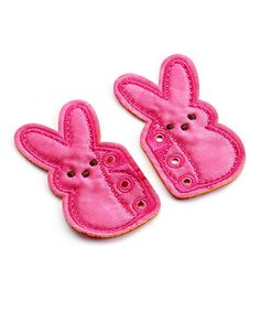 Look what I found on #zulily! Pink Bunny Shoelace Accessories #zulilyfinds