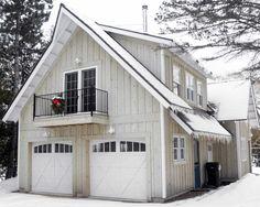 Garage small balcony