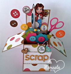 Scrapbooking pop up Pop Up Box Cards, 3d Cards, Card Boxes, Easel Cards, Fancy Fold Cards, Folded Cards, Box Cards Tutorial, Card Tutorials, Exploding Box Card