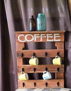 For all the coffee lovers out there! Dimensions 18x16 and 20x24. Free Shipping! For customer pick up use discount code pickup1 at checkout. **All items are one of a kind creations and can vary from th