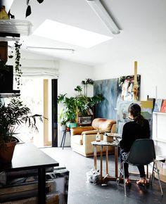 The studio / atelier of artist Kate Tucker. Photo - Sharyn Cairns.
