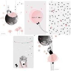Le lot de 5 cartes décoratives Mum of love de la collection by My Lovely Thing pour Lilipinso permet de décorer et d'aigailler le mur d'une chambre d'enfant. Cette décoration apportera toute sa bonne humeur dans la pièce !