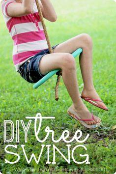 DIY Tree Swing - Summer Fun With Kids