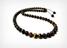 The Golden Brown Mens Necklace Featuring Brown Tiger's Eye by Designed By Audrey, $46.00