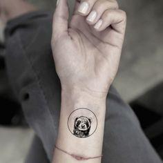Circle Ferret Temporary Tattoo Sticker (Set of - Frettchen - Tattoo Fake Tattoos, Cover Up Tattoos, New Tattoos, Body Art Tattoos, Small Tattoos, Sleeve Tattoos, Badger Tattoo, Ferret Tattoo, Otter Tattoo
