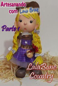 Artesanando com Lais Braz- LalaBone Country Parte 1 - aula 2